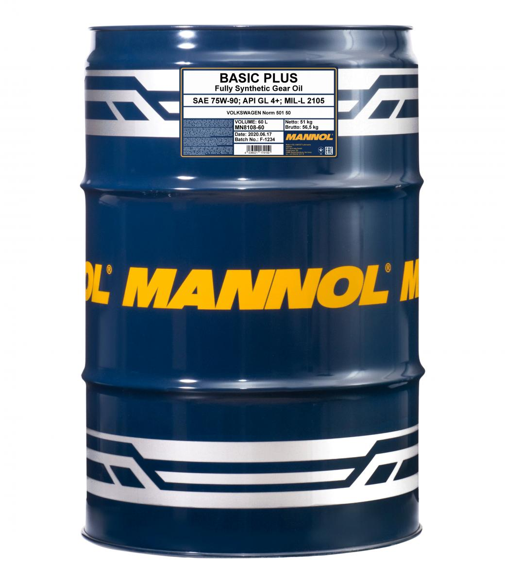 MANNOL Basic Plus 75W-90 API GL 4+ 60l